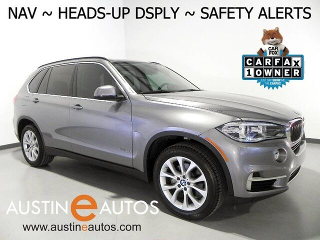 2016 BMW X5 sDrive35i *NAVIGATION, HEADS-UP DISPLAY, BLIND SPOT ALERT, DRIVING ASSISTANT, TOP/REAR/SIDE CAMERAS, PANORAMA MOONROOF, LEATHER, HEATED SEATS, BLUETOOTH Round Rock TX