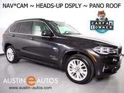 2016_BMW_X5 xDrive40e AWD_*LUXURY LINE, HEADS-UP DISPLAY, NAVIGATION, SIDE/REAR/TOP CAMERAS, LEATHER, HEATED SEATS/STEERING WHEEL, MULTI-CONTOUR SEATS, PANORAMA MOONROOF_ Round Rock TX