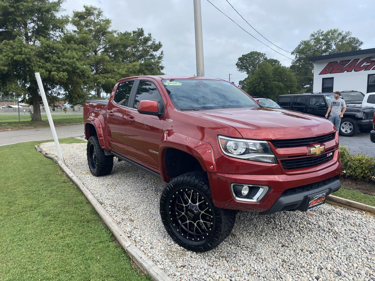 2016 CHEVROLET COLORADO LT CREW CAB 4X4, WARRANTY, LIFTED, LEATHER, HEATED FRONT SEATS, BACKUP CAM, BLUETOOTH, TOW PKG! Norfolk VA