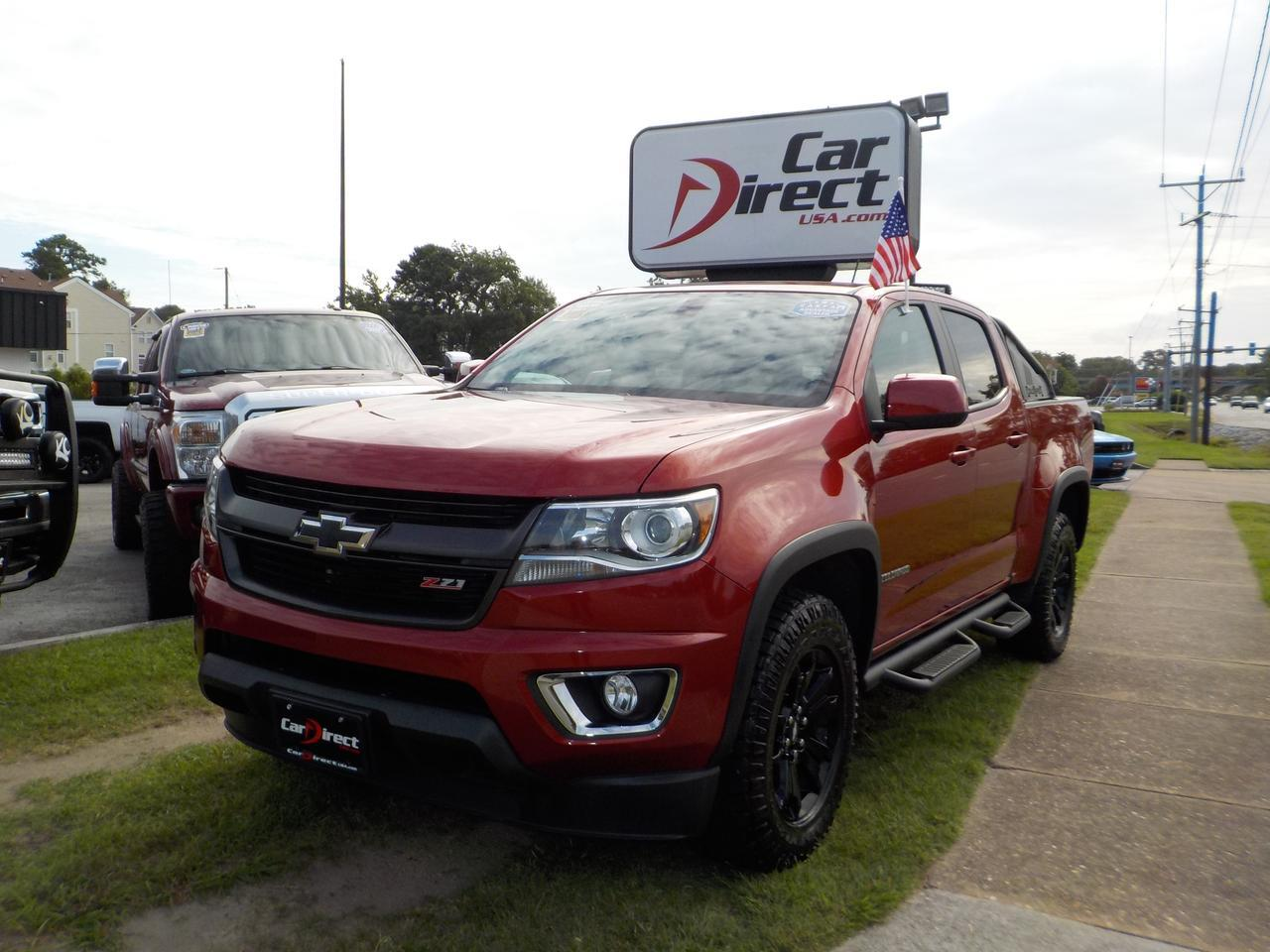 2016 CHEVROLET COLORADO Z71 CREW CAB 4X4, LEATHER, HEATED FRONT SEATS, NAV, BLUETOOTH, BACKUP CAM, TOW PKG, 1 OWNER! Virginia Beach VA
