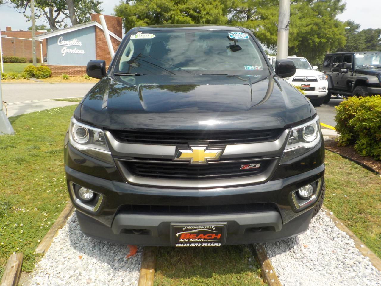 2016 CHEVROLET COLORADO Z71 EXTENDED CAB 4X4, WARRANTY, LEATHER/CLOTH  SEATS, BACKUP CAM, NAV, REMOTE START, ONLY 1 OWNER!