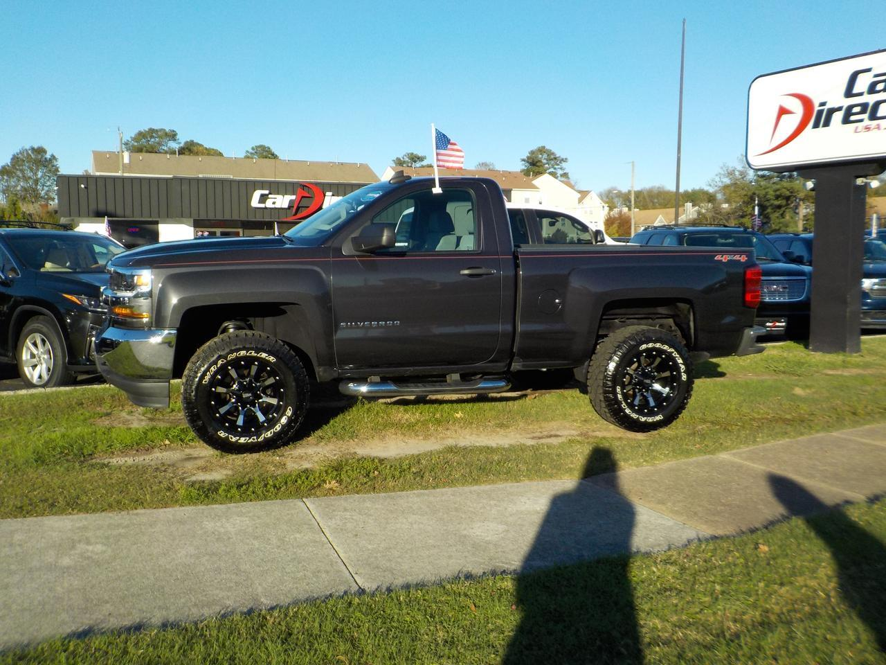 2016 CHEVROLET SILVERADO 1500 REGULAR CAB 4X4, CUSTOM MOTO METAL WHEELS, BLUETOOTH, BACKUP CAMERA, TOW PKG, ONLY 53K MILES! Virginia Beach VA