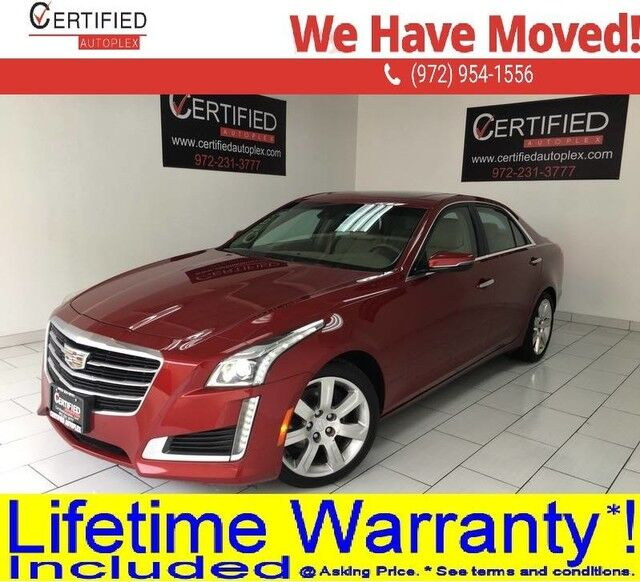 2016 Cadillac CTS LUXURY NAVIGATION PANORAMIC ROOF BLIND SPOT ASSIST REAR CAMERA LANE ASSIST Dallas TX