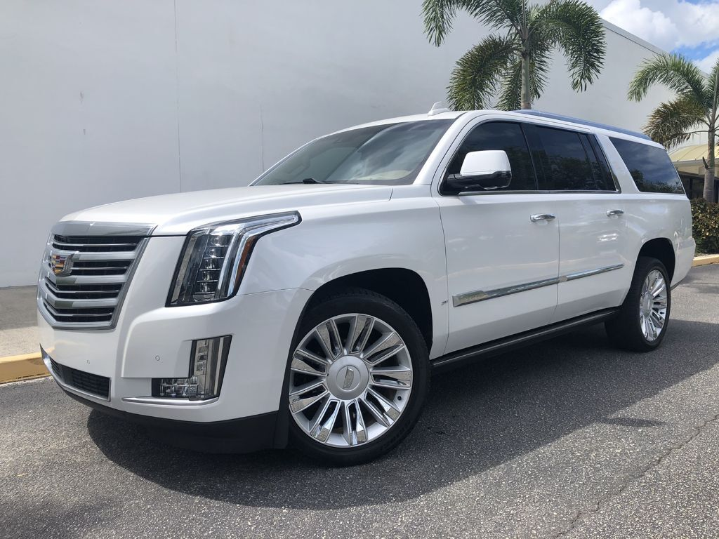 2016 Cadillac Escalade ESV Platinum~ TOP OF THE LINE! PEARL WHITE/ BEIGE INTERIOR~ 4 DVD'S~ POWER RUNNING BOARDS~ 3RD ROW SEATS~ NAVI! BEST COLOR COMBO! 1-OWNER~ CLEAN CARFAX~ LOOKS AND RUNS GREAT~ ONLINE SHIPPING AND FINANCE AVAILABLE! Sarasota FL