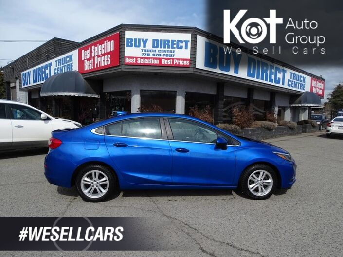 2016 Chevrolet Cruze LT Sunroof, Back-up Camera, Low KM's Kelowna BC