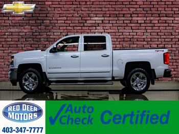 2016_Chevrolet_Silverado 1500_4x4 Crew Cab LTZ Leather Nav BCam_ Red Deer AB