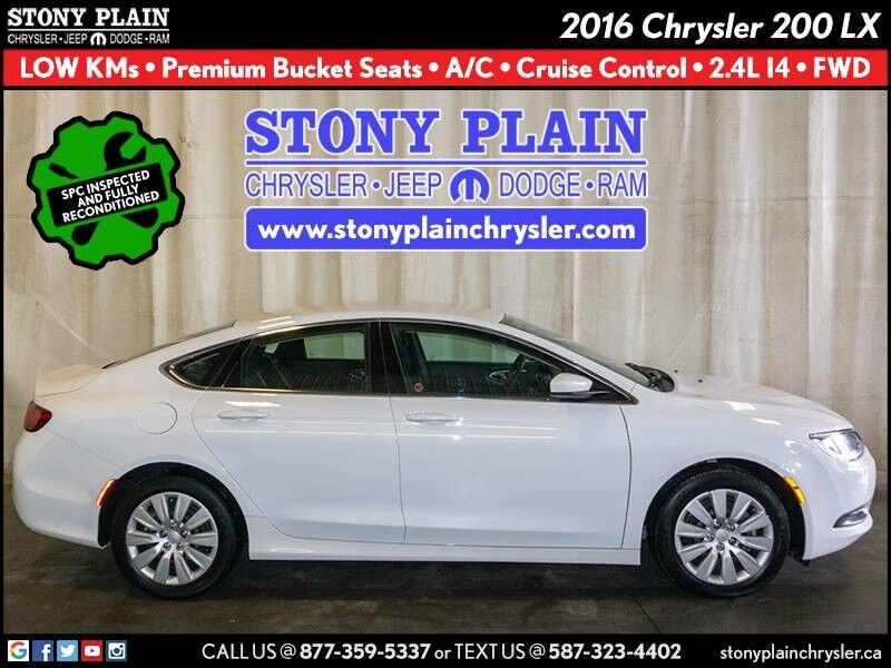 2016 Chrysler 200 LX Stony Plain AB