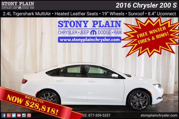 2016 Chrysler 200 S Stony Plain AB