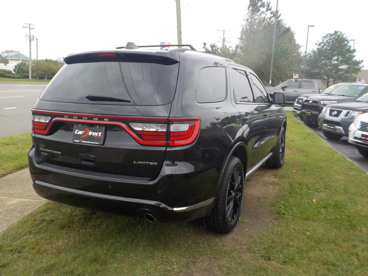 2016 DODGE DURANGO LIMITED AWD, LEATHER, HEATED SEATS, REMOTE START, SUNROOF, BACK UP CAM, NAVIGATION, ONLY 53K MILES! Virginia Beach VA