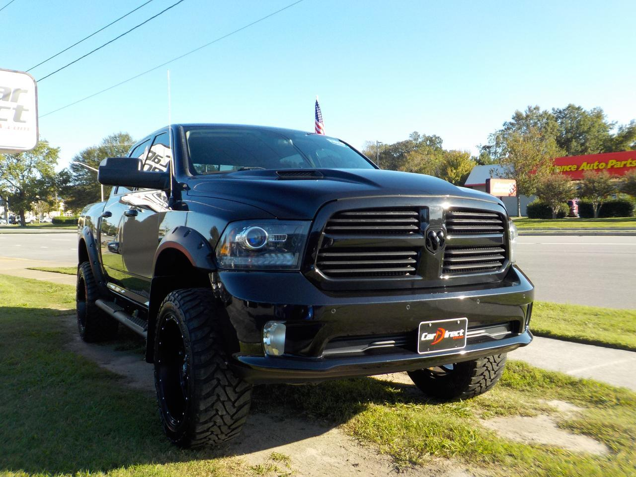 2016 DODGE RAM 1500 4X4 CREW CAB SPORT, HEATED SEATS, LEATHER, TOW PKG, BACKUP CAM, REMOTE START, ONLY 46K MILES!! Virginia Beach VA