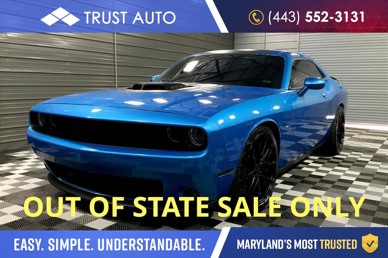 2016 Dodge Challenger Quick Order Package 28 S R/T Plus Shaker Sykesville MD