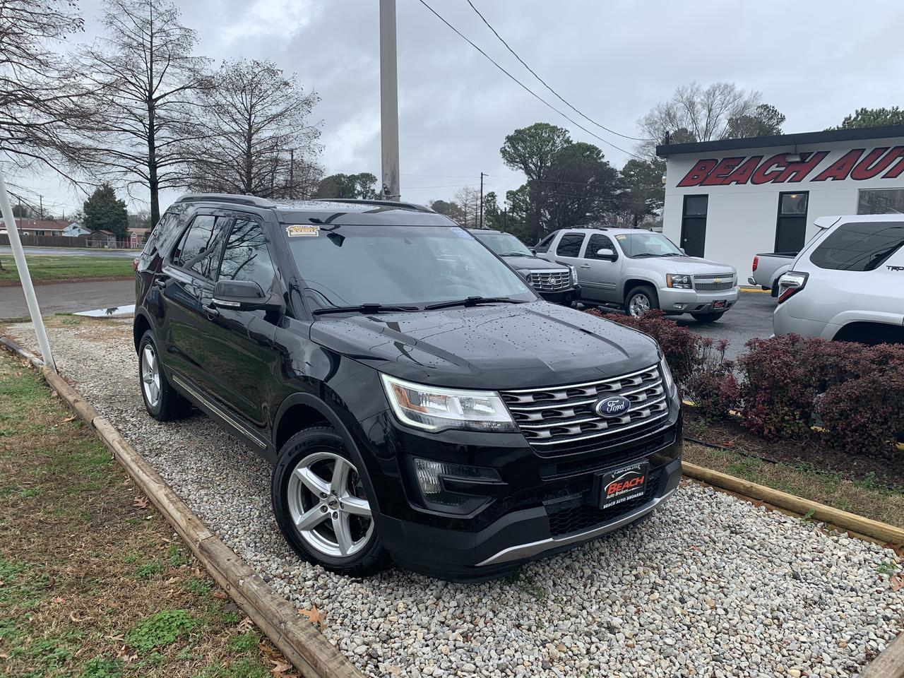 2016 FORD EXPLORER XLT 4X4, WARRANTY, LEATHER, SUNROOF, NAV, 3RD ROW, HEATED SEATS, CAPTAINS CHAIRS, CLEAN CARFAX! Norfolk VA