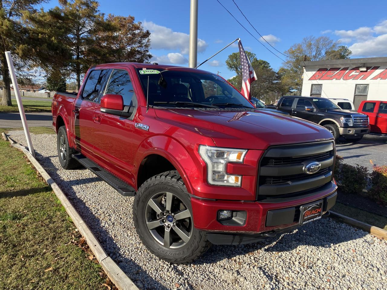 2016 FORD F-150 LARIAT SUPERCREW 4X4, WARRANTY,  LEATHER, NAV, HEATED/COOLED SEATS, FULLY LOADED! Norfolk VA
