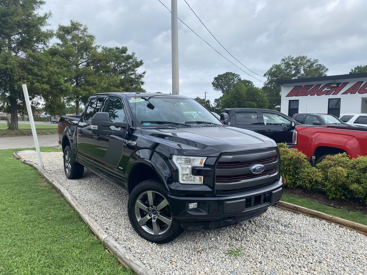 2016 FORD F-150 LARIAT SUPERCREW 4X4, WARRANTY, LEATHER, SUNROOF, NAV, HEATED/COOLED SEATS, SUNROOF, REMOTE START! Norfolk VA