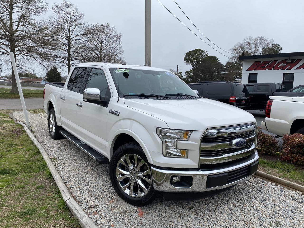 2016 FORD F-150 LARIAT SUPERCREW, WARRANTY, LEATHER, NAV, HEATED/COOLED SEATS, SUNROOF, 1 OWNER! Norfolk VA