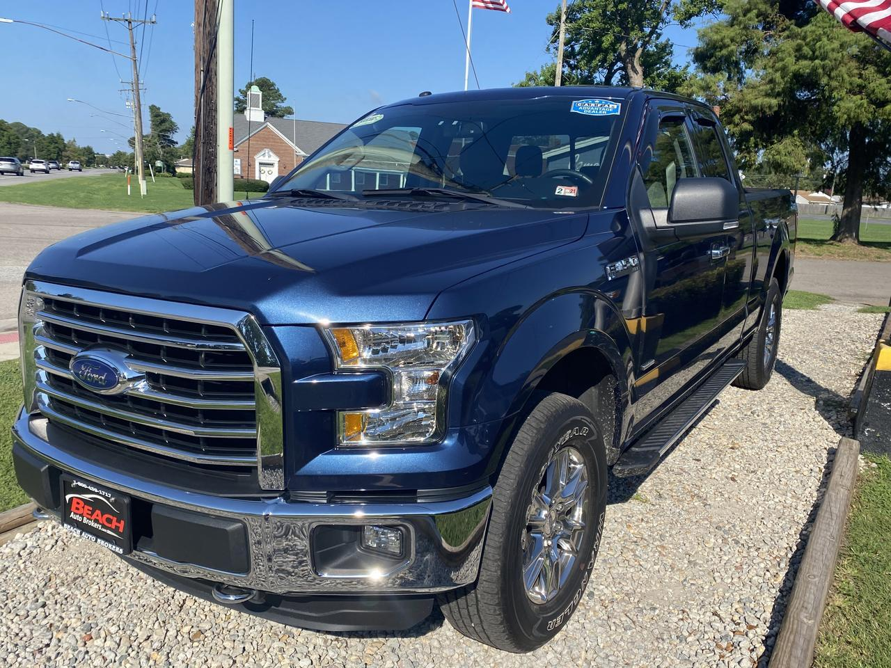2016 FORD F-150 XLT SUPERCAB 4X4, WARRANTY, HEATED SEATS, BLUETOOTH, TOW PKG, BACKUP CAM, PARKING SENSORS, CLEAN! Norfolk VA