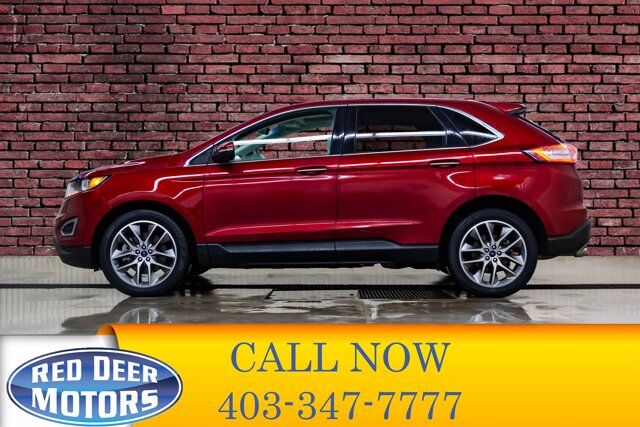 2016 Ford Edge AWD Titanium Leather Roof Nav Red Deer AB