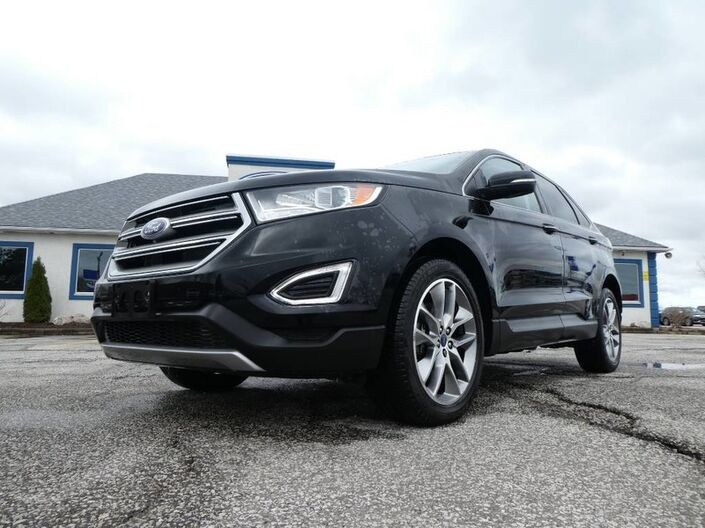 2016 Ford Edge Titanium- BROWN LEATHER- LOADED- AWD- SUNROOF Essex ON