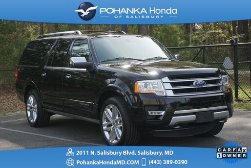 2016_Ford_Expedition EL_Platinum ** 4WD **  NAVIGATION ** ONE OWNER **_ Salisbury MD