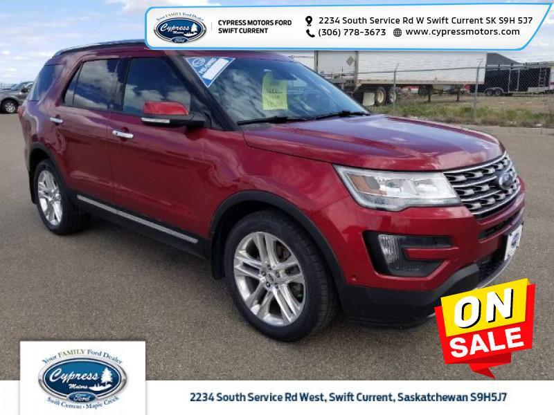 2016 Ford Explorer Limited  - Sunroof - $210 B/W Swift Current SK