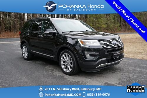 2016_Ford_Explorer_Limited 4WD ** NAVI & SUNROOF ** GUARANTEED FINANCING **_ Salisbury MD