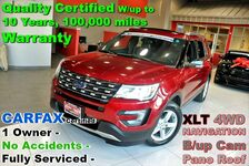 2016 Ford Explorer XLT 4WD - LOADED - CARFAX Certified 1 Owner - No Accidents - Fully Serviced - Quality Certified W/up to 10 Years, 100,000 miles Warranty