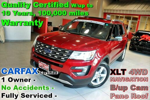 2016 Ford Explorer XLT 4WD - LOADED - CARFAX Certified 1 Owner - No Accidents - Fully Serviced - Quality Certified W/up to 10 Years, 100,000 miles Warranty Springfield NJ