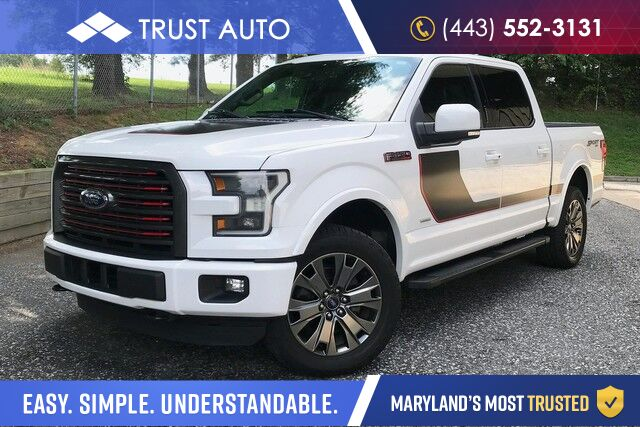 2016 Ford F-150 Lariat Crew Cab 4WD Lariat Pickup Truck w/ Sport Appearance Package Sykesville MD