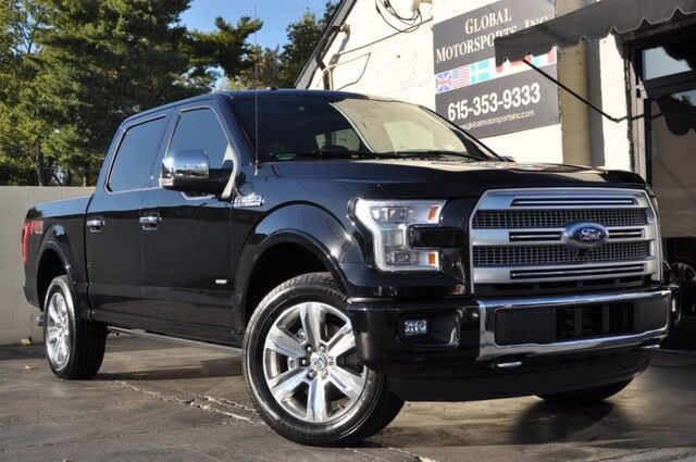 2016 Ford F-150 Platinum FX4/3.5L Ecoboost/Navigation/Blind Spot Info System/Heated & Cooled Leather Seats/Adaptive Cruise Control/Active Park Assist/Twin Panel Moonroof/Tow Pkg Nashville TN