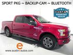 2016 Ford F-150 SuperCrew XLT *BACKUP-CAMERA, TOUCH SCREEN, SPORT APPEARANCE PKG, ALLOY WHEELS, BUCKET FRONT SEATS, BLUETOOTH PHONE & AUDIO