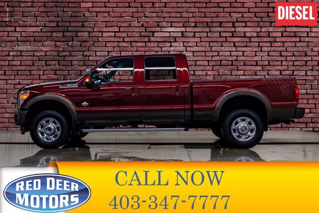 2016 Ford F-350 4x4 Crew Cab King Ranch Diesel Leather Nav BCam Red Deer AB