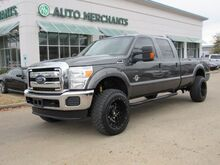 2016_Ford_F-350 SD_XLT Crew Cab Long Bed 4WD LEVELING KIT, 20X12 WHEELS WITH 35IN MUD TIRES, RUNNING BOARDS_ Plano TX