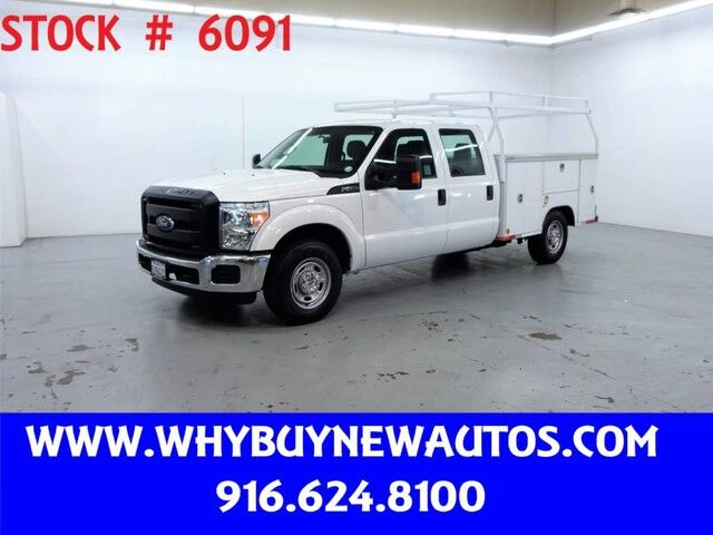 2016 Ford F250 Utility ~ Crew Cab ~ Only 14K Miles! Rocklin CA