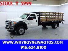 2016_Ford_F550_~ 4x4 ~ Diesel ~ Liftgate ~ 16ft. Stake Bed ~ Only 53K Miles!_ Rocklin CA
