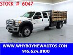 2016 Ford F550 ~ Crew Cab XLT ~ 4x4 ~ Diesel ~ 12ft Stake Bed ~ Liftgate