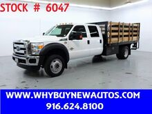 2016_Ford_F550_~ Crew Cab XLT ~ 4x4 ~ Diesel ~ 12ft Stake Bed ~ Liftgate_ Rocklin CA