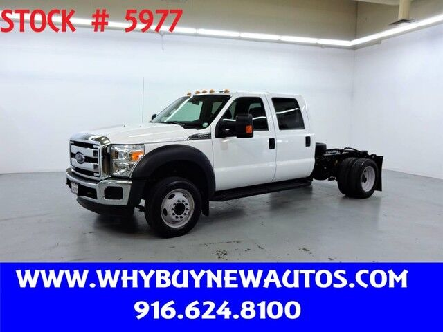 2016 Ford F550 ~ XLT ~ Crew Cab ~ Cab & Chassis ~ Only 30K Miles! Rocklin CA