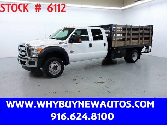 2016 Ford F550 ~ XLT Crew Cab ~ 4x4 ~ Diesel ~ Liftgate ~ 12ft Stake Bed ~ Only 56K Miles! Rocklin CA