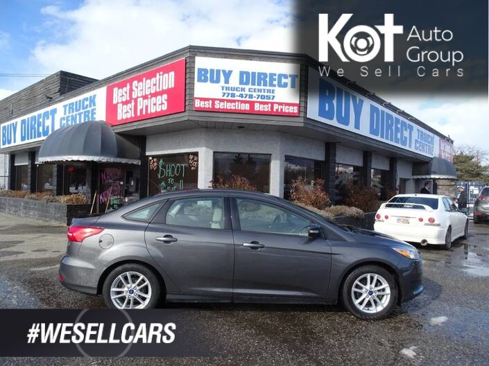 2016 Ford Focus SE Back-up Camera, No Accidents, Warranty Remaining! Kelowna BC