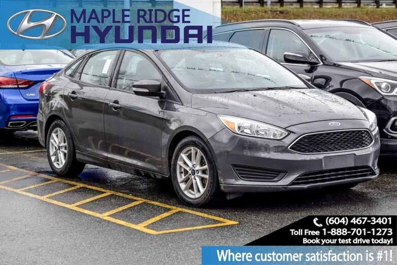 2016 Ford Focus SE Keyless Entry, Bluetooth, Local, No Accidents Maple Ridge BC
