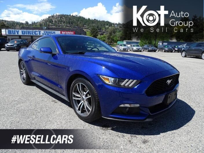 2016 Ford Mustang EcoBoost Premium, Low KM's, Heated and Cooled Leather Seats, Bac Kelowna BC