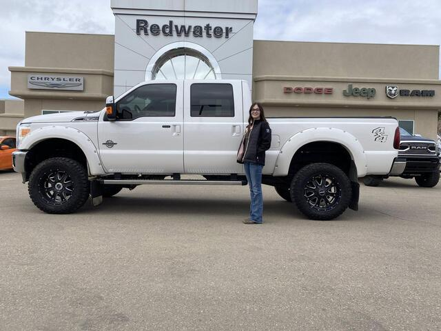 2016 Ford Super Duty F-350 SRW Lariat Crew - 4X4 - Powerstroke Diesel - Lifted - Leather - Sunroof - Deleted - One Owner Redwater AB