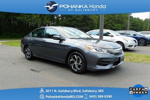 2016_Honda_Accord_LX ** 1 Owner ** Honda Certified 7 Year / 100,000 **_ Salisbury MD