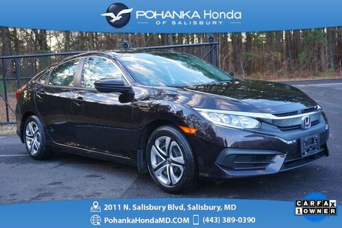 2016_Honda_Civic_LX ** 1 OWNER ** HONDA CERTIFIED 7 Year / 100,000 **_ Salisbury MD