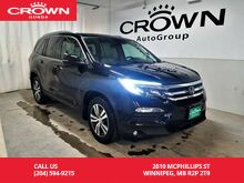2016_Honda_Pilot_EX-L w/REAR ENTERTAINMENT SYS / 4WD /ACCIDENT-FREE HISTORY/ ONE OWNER LEASE RETURN/ /PUSH START/HEATED SEATS/_ Winnipeg MB