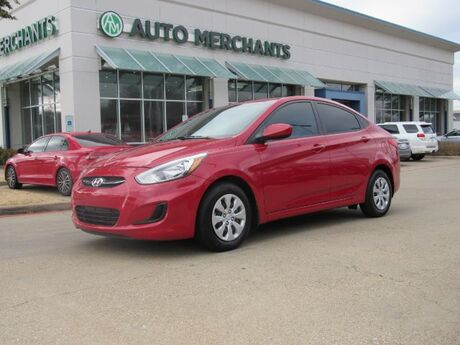2016 Hyundai Accent SE 4-Door w/Style Package 1.6L AUTOMATIC, AUX AUDIO INPUT, BLUETOOTH CONNECTION, BRAKE ASSIST SYSTEM Plano TX