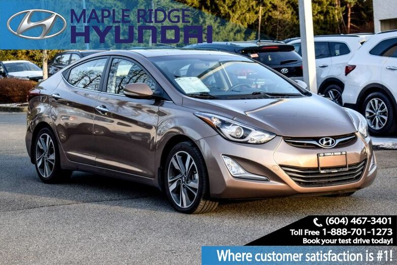 2016 Hyundai Elantra 4dr Sdn Auto Limited Navigation, Heated Seats Maple Ridge BC