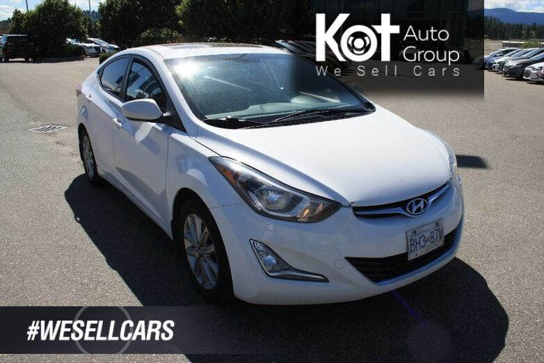 2016 Hyundai Elantra Sport Appearance BACKUP CAMERA! SUNROOF! HEATED SEATS! ONE OWNER! Kelowna BC