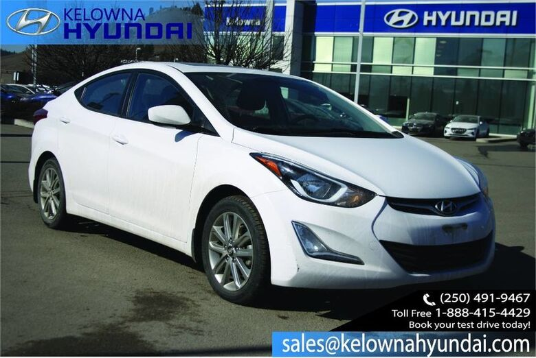 2016 Hyundai Elantra Sport Appearance Sunroof, back up cam, Heated seats, Alloy wheels Kelowna BC