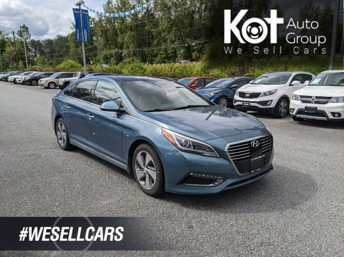 2016 Hyundai SONATA HYBRID ULTIMATE! RARE COLOR! FULL LOAD! LEATHER! NAV! PANORAMIC SUNROOF! HEATED SEATS! COOLING SEATS! TIME TO SAVE ON GAS! Kelowna BC